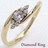 セブンストーンダイヤモンドリング イエローゴールドK18 K18YG結婚指輪 ジュエリーショップ サプライズプレゼント ギフト【楽ギフ包装】【楽ギフ名入れ】