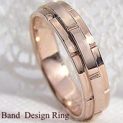バンドデザインリング ピンクゴールドK18 結婚式 プレゼント オシャレ指輪  K18PGアクセサリー ジュエリーショップ ファッションリング ギフト ◆送料無料◆ピンクゴールドK18リング/ベルトデザイン/指輪
