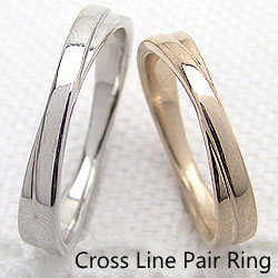 クロス ライン マリッジリング K18YG K18WG イエローゴールドK18 ホワイトゴールドK18 記念日 結婚指輪 刻印 文字入れ 可能  い 2本セット ブライダル アクセサリー ジュエリーアイ ギフト 結婚指輪 ペアリング マリッジリング 工房 直送  地金 送料無料