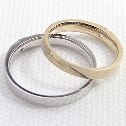 結婚指輪 ゴールド 一粒ダイヤモンド ブラック...の紹介画像3