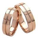 ショッピングウェディング 結婚指輪 ゴールド クロス 幅広 ペアリング シンプル ピンクゴールドK18 マリッジリング 18金 2本セット ペア 文字入れ 刻印 可能 婚約 結婚式 ブライダル ウエディング ホワイトデー プレゼント