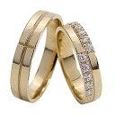 ショッピングペアリング 結婚指輪 ゴールド クロス ダイヤモンド ペアリング マリッジリング 十字架 イエローゴールドK10 10金 2本セット ペア 文字入れ 刻印 可能 婚約 結婚式 ブライダル ウエディング バレンタインデー プレゼント