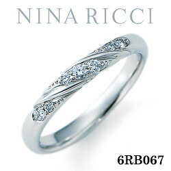 結婚指輪 プラチナ900 ダイヤモンド マリッジリング ニナリッチ 6RB067 【ポイント2倍 刻印無料 送料無料】