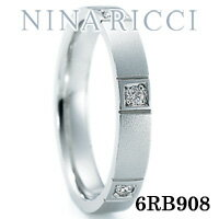 結婚指輪 プラチナ900 ダイヤモンド マリッジリング ニナリッチ 6RB908 【ポイント2倍 刻印無料 送料無料】