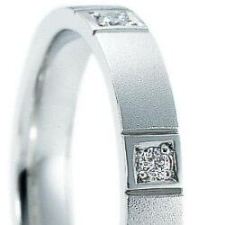 結婚指輪 プラチナ900 ダイヤモンド マリッ...の紹介画像2