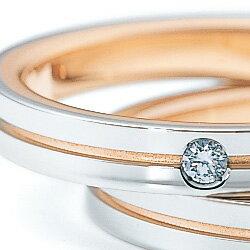 結婚指輪 プラチナ900 K18ピンクゴールド...の紹介画像2