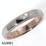 結婚指輪 マリッジリング Pt900(プラチナ900)/K18PG(ピンクゴールド) サファイア/ダイヤモンド リング 【#3?#22】 Romantic Blue (ロマンティッ