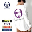 SERGIO TACCHINI セルジオタッキーニ ビッグシルエット 長袖 ロゴプリントTシャツ ロンT  メンズ セルジオ・タッキーニ ロンT バックプリント オーバーサイズ テニス 80年代 90年代 ユニセックス