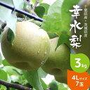 【送料無料】 梨 幸水 3kg 4L サイズ 7玉 千葉県産...