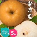 【送料無料】 千葉県 香取梨園 新高梨 5kg 4Lサイズ ...
