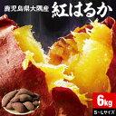 さつまいも 紅はるか 鹿児島 生芋 6kg 1箱 送料無料 M・Lサイズ混載 土付き 美味しい