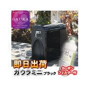 【あす楽】 ガウラミニ(GAURAmini) ブラック 水素水生成器 水素水サーバー カーボンフィルター 1本プレゼント