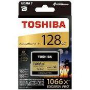送料無料!東芝 コンパクトフラッシュ 128GB CF-AX128G