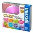 送料無料!maxell データ用 CD-RW 700MB 4倍速対応 カラーミックス 5枚 5mmケース入 CDRW80MIX.1P5S