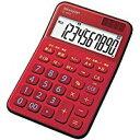 送料無料!シャープ 電卓 10桁(レッド系)ミニナイスサイズ電卓 EL-M335-RX