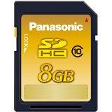 送料無料!Panasonic 8GB SDHCメモリーカード CLASS10 RP-SDWA08GJK
