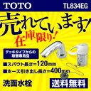 [TL834EG] カード払いOK!TOTO 洗面水栓 ツーホールタイプ(コンビネーション) シングルレバー混合栓(2ハンドル取り替え用) 吐水口:ソフト 【パ...