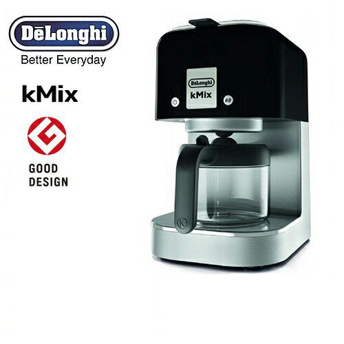 [COX750J-BK] デロンギ コーヒーメーカー kMix ケーミックス ドリップコーヒーメーカー 抽出杯数:1〜6杯 (125mL×6杯) ステンレスフィルター リッチブラック 【送料無料】