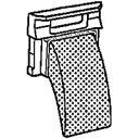 【メール便対応】シャープ 洗濯機用 糸くずフィルター 【品番:2103370240】