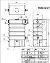 タキロン雨水タンク アメマルシェ120リットル用2連結用部品 ウスイタンクブヒン CAP-H120 商品コード307406