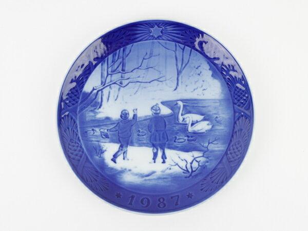 ロイヤルコペンハーゲン イヤープレート 1987 冬鳥 スヴェン ヴェスタゴー 人気 レア 飾り皿 アウトレット