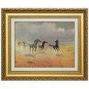 アルボー 複製名画 アルボー「荒野の群馬」 美術品 レプリカ