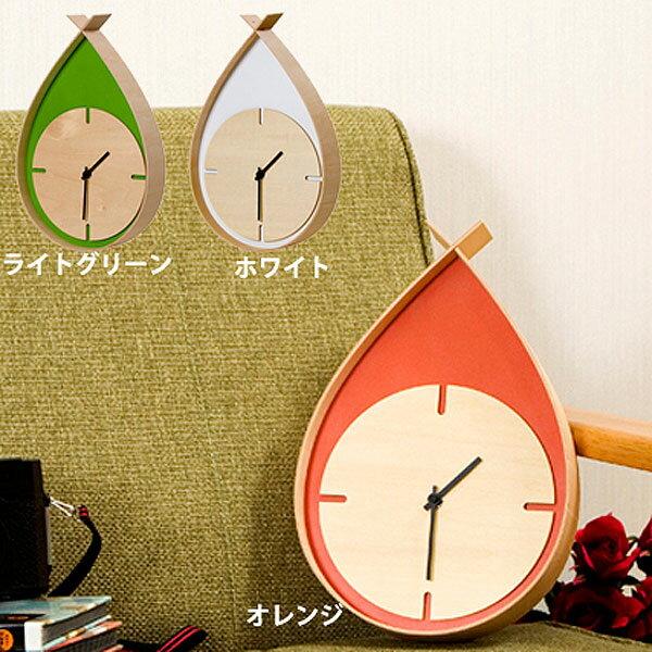 日本製雫型掛け時計 TEARS CLOCK W(時計 リビング雑貨 天然木 日本製 モダン) 送料込み 北欧 訳あり セール おしゃれ 敬老の日 ギフト