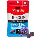 UHA味覚糖 グミサプリ 鉄&葉酸 10日分 20粒_