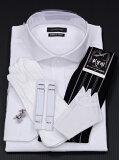 【モーニング用シャツ】ウィングカラーシャツ比翼仕立C 小物セット〔〕【タキシード用シャツ】【RCP】10P08Feb15