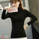 ショッピングタートルネック ハイネック タートルネック 長袖 カットソー トップス 無地 ニットソー 韓国 ファッション