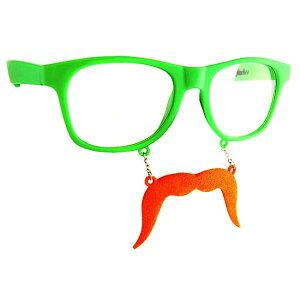 【おもしろメガネ】ジョークメガネ グリーン&オレン