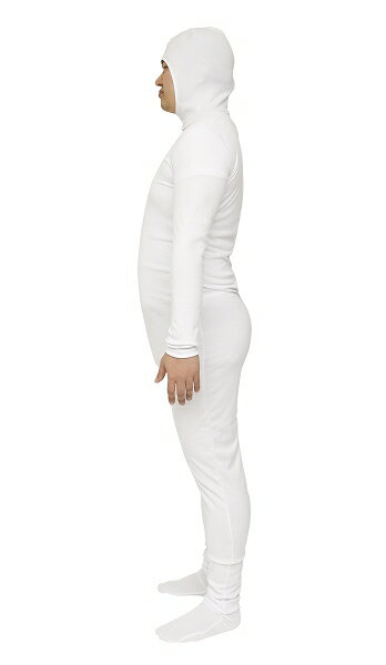 【全身タイツ 白色 M】のびのび全身タイツくん 白 Mサイズ[全身タイツ ホワイト コスプレ 顔出し コスチューム ハロウィン コスプレ コスチューム 仮装]【A-1461_865100】:はぴキャラ