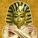 ツタンカー面(ツタンカーメンのラバーマスク)【お面 マスク エジプト ファラオ】【C-0342_052853】