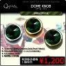 Q-Parts DOME KNOB ドーム・ノブ [Green Crystal] 1個《ご希望のカラーをお選びください》