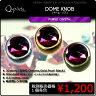 Q-Parts DOME KNOB ドーム・ノブ [Purple Crystal] 1個《ご希望のカラーをお選びください》