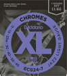 D'Addario ECG24-7 Chromes Flat Wound, 7-String, Jazz Light, 11-65 《エレキギター弦》 ダダリオ 【ネコポス】