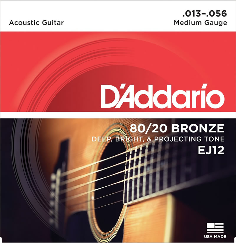 "D ' Addario EJ12 Medium D'Addario ""guitar chords."