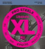 Dada里约热内卢专业钢铁弦D''Addario EPS170 ProSteels Round Wound 《基本弦》Dada里约热内卢【※邮件投递】[D''Addario EPS170 ProSteels Round Wound 《ベース弦》 ダダリオ 【※メール便】]