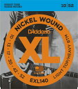 D'Addario EXL140 Nickel Wound, Light Top/Heavy Bottom, 10-52 《エレキギター弦》 ダダリオ 【ネコポス】