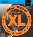 D'Addario EXL160-5 Nickel Round Wound 《ベース弦》 ダダリオ 【ネコポス】