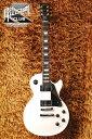 レスポール・スタジオのオールマホガニー!サテンフィニッシュで登場!!Gibson Les Paul Studio Mahogany (Satin White)【スタンドセット付】【送料無料】【今ならメトロノーム機能付チューナープレゼント!!】