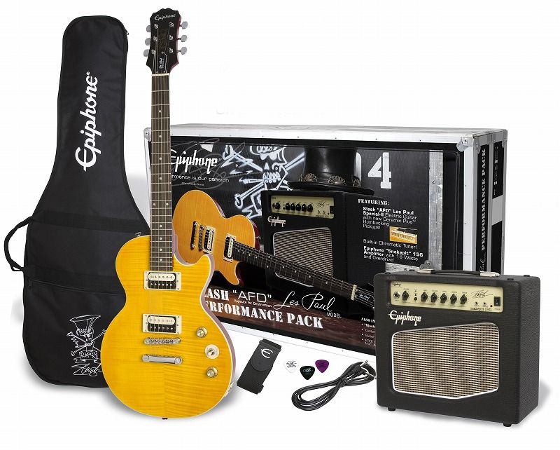 """Epiphone Slash """"AFD"""" Les Paul Special ll Performance Pack(Appetite Amber) [PPGS-ENA2AANH3-JP]【エピフォングッズプレゼント】"""