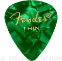 Fender 351 Shape Premium Picks, Thin, Green Moto, 12 Count (12枚)《ピック》【ネコポス】