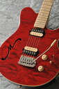 MUSICMAN Axis Super Sport Semi-Hollow Body HH trem Maple Fingerboard,Matching Headstock (Translucent Red)【送料無料】【受注生..
