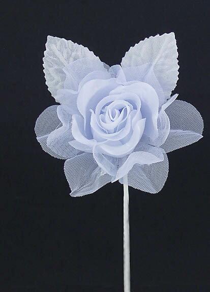 ローズピック BLUE(造花 花材 アートフラワー)