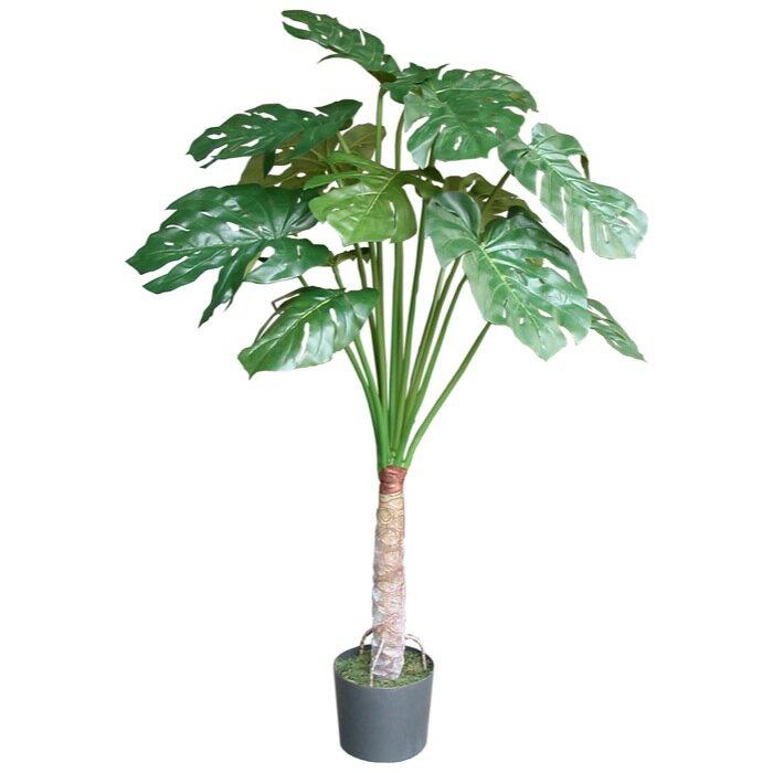 【送料無料】モンステラ 130cm 【観葉植物 造花 CT触媒/光触媒 フェイクグリーン】[W-S] 癒しのグリーンでいつでも空気すっきり♪