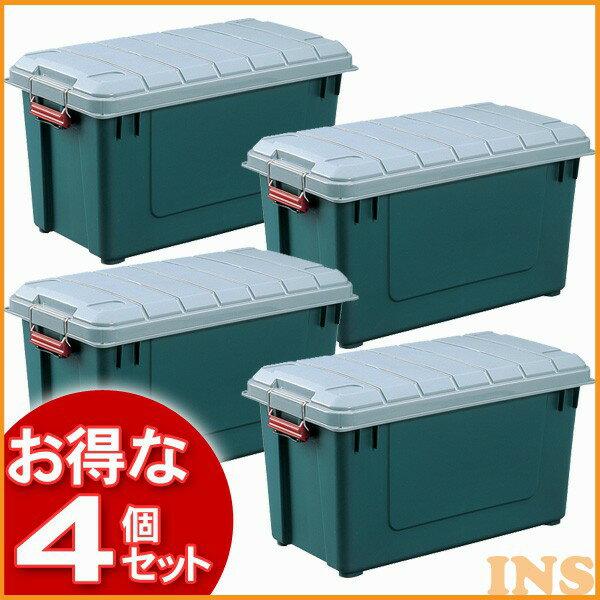 【送料無料】【4個セット】密閉 RV BOX700グレー/ダークグリーン (コンテナボックス/レジャーボックス/収納/あく外収納/アウトドア)【02特価】