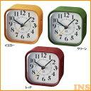 【時計 デジタル時計】電波アナログアラームクロック【電波時計 目覚まし時計 かわいい】BRUNO B