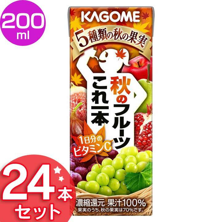 24本入り秋のフルーツこれ一本200ml24本季節限定商品飲料ドリンクフルーツジュースまとめ買い紙パ