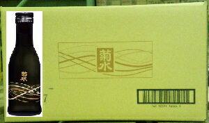 菊水黒瓶 180ml【新潟清酒】【晩酌酒】【業務用】【一合瓶1箱30本入り】【1発送梱包は2箱まで】【完全取り寄せ品】
